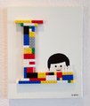 Acrylic and Lego on canvas 2015 : 個人所蔵